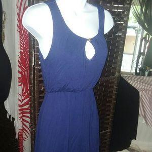 DELIRIOUS BLUE HI LOW DRESS SIZE S